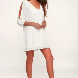Lulus shifting dears ivory long sleeve dress XS